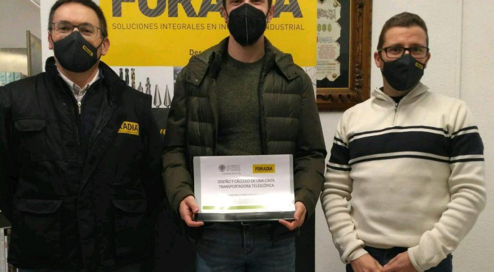 FORADIA S.L. felicita al alumno del Grado de Ingeniería Mecánica de la UPV Jordi Valor Llopis